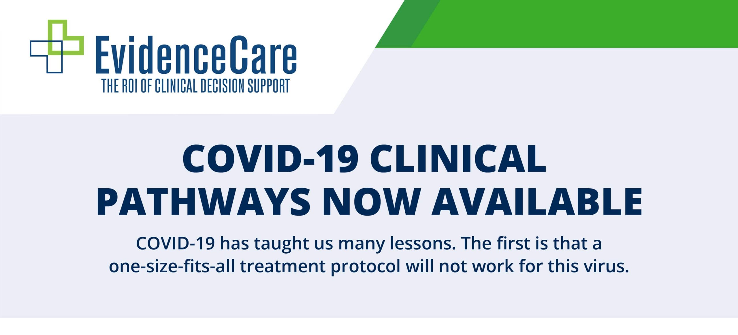 COVID-19 Clinical Pathways Infographic