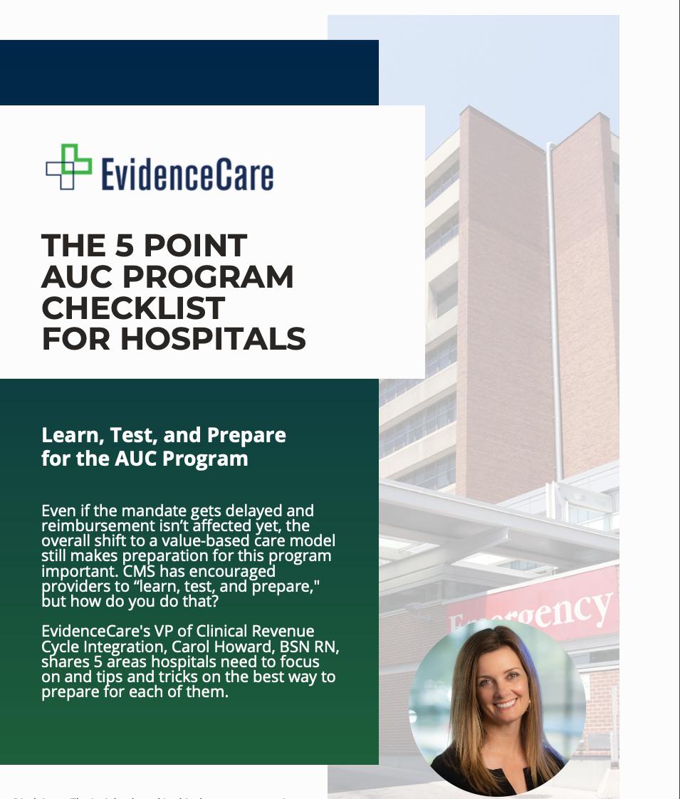 EvidenceCare AUC Program Checklist Preview